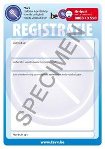 FAVV Registratieformulier voor activiteiten in de voedselketen