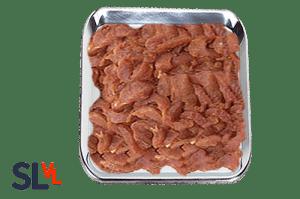 Shoarma gekruide reepjes lamsvlees