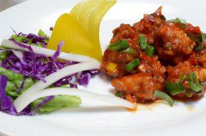 Voor Chinese recepten met Kip, chicken manchurian dry