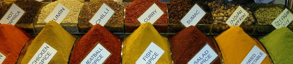 Hier de juiste naamgeving en het gebruik van Oosterse producten en kruiden.