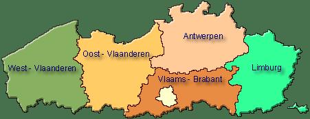 Provincies met ambachtelijke Slagers in Vlaanderen