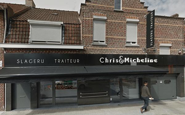 Het buitenaanzicht van Slagerij Chris & Micheline Bissegem uw ambachtelijke slager
