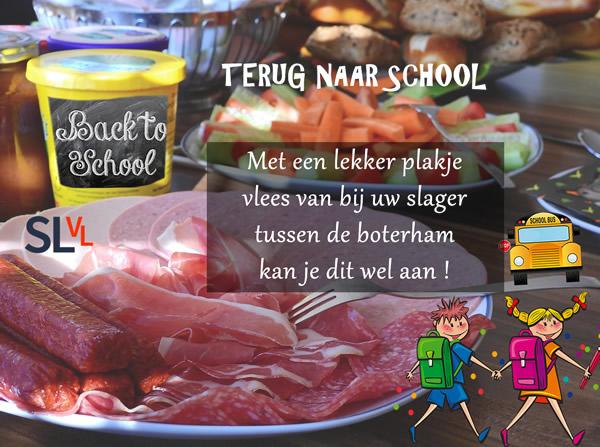 Terug naar school met vlees van bij de slager