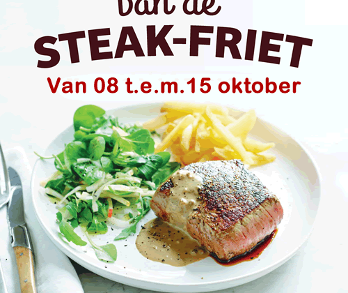De week van de Steak-Friet van 08 t.e.m.15 oktober 2020